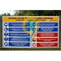 Jual Safety Sign & Rambu K3 - General Safety Rules Board ...