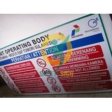 Safety Sign & Rambu K3 - General Safety Rules Board  - Papan Aturan Umum Kesehatan Dan Keselamatan Kerja