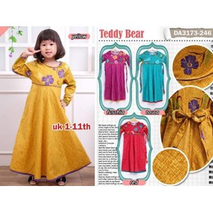 Sell 3173 Teddy Bear Robe Child Plain Cotton Flower Combination
