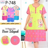 Jual Dress forever bear kantong p748