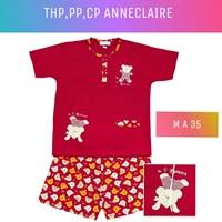 Baju tidur anneclaire THP merah M A35
