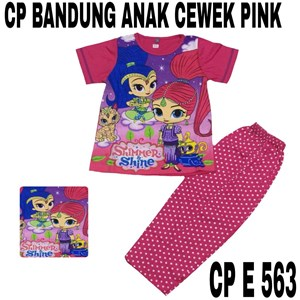 Babydoll Bandung CP E 563 pink cewek uk 4-6