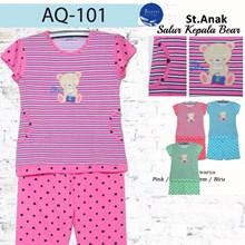 setelan baju tidur anak 3/4 forever AQ 101