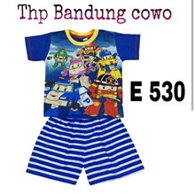 Baju anak Bandung HP E 530 blue cowok 14-18