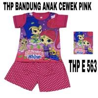 Baju anak Bandung HP E 563 pink cewek uk 4-6
