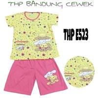 Baju anak Bandung HP 523 kuning cewek 8-12 1