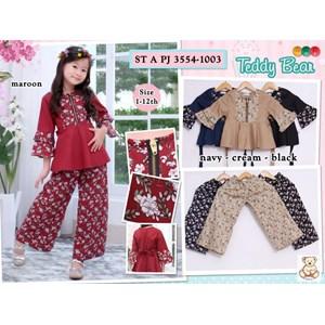 setelan muslim anak teddy bear 3554-1003 (distributor)
