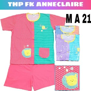Baju tidur Anneclaire full kancing M A 21