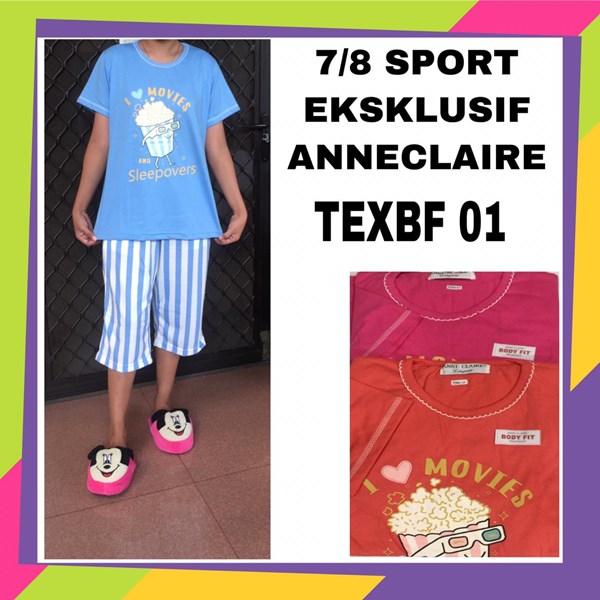 Baju tidur 7/8 sport exclusif anneclaire TEXBF 01