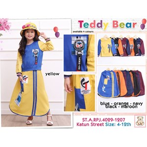 Setelan muslim anak teddy bear 4029-1207 (uk 4-6)
