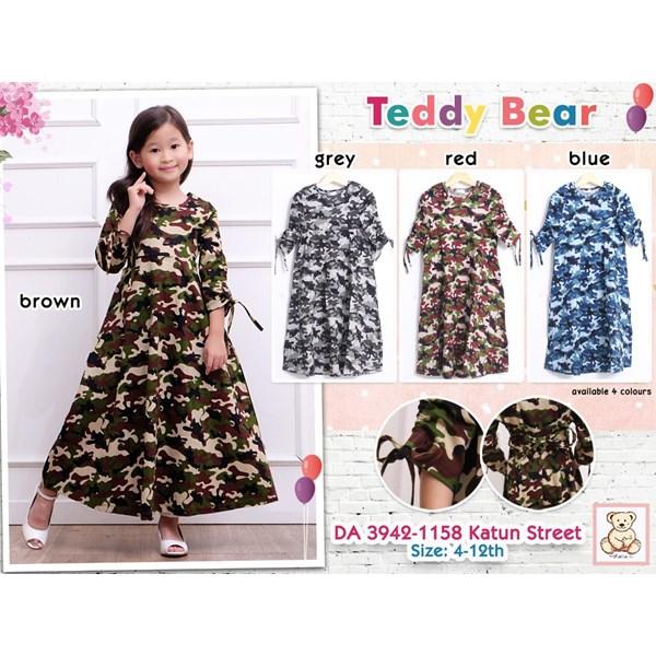gamis teddy bear anak 3942-1158(distributor)