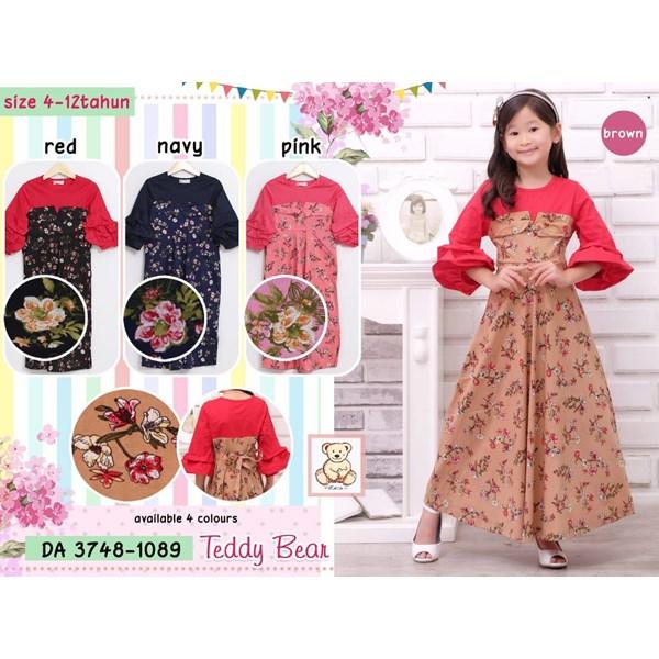 Gamis anak teddy bear 3748-1089 (distributor)