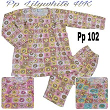 Baju Tidur Anneclaire lilywhite PP102