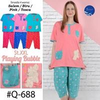 Night Gown 3/4 bigsize XXL Q 688