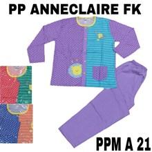 Baju Tidur celana panjang lengan panjang full kancing PPM A 21