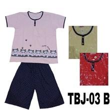 Baju Tidur 3/4 jumbo Beris TBJ 03B