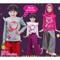 Muslim suit culottes Little Pineapple hijab 578-4
