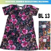 Baju Tidur Daster Katun Blessing jumbo resleting BL13