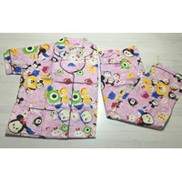 Baju Tidur CP Katun krah CPC 10 pink