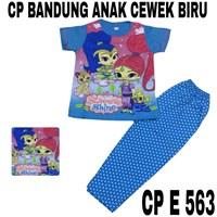 Baju Tidur Bandung CP E 563 biru cewek uk 8-12