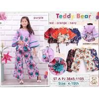 Setelan Muslim Teddy Bear anak 3845-1105