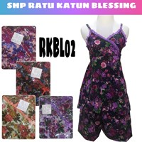 Cotton strap SHP nightgown RKBL 02 blessing