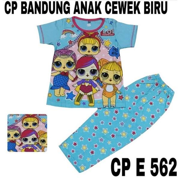 Baju Tidur anak bandung cewek biru CP E 562(uk 4-6)