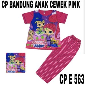 Baju Tidur anak bandung pink CP E 563(uk 8-12)