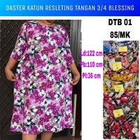 DTB 01 blessing jumbo cotton blessing zipper nightgown