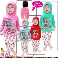 Baby clothes wear hijab little pineapple 338-29