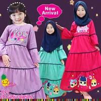Baju Muslim Anak gamis little pineapple 914-5