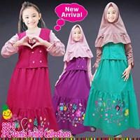 Baju Muslim Anak gamis little pineapple 923-3