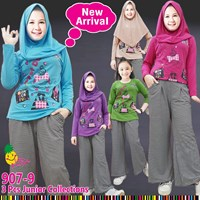Setelan muslim anak kulot little pineapple 907-9