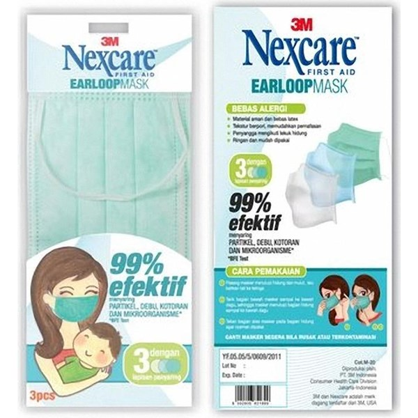 3M Nexcare Earloop Mask (Masker)
