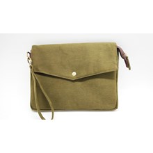 Clutch Army Bahan Canvas