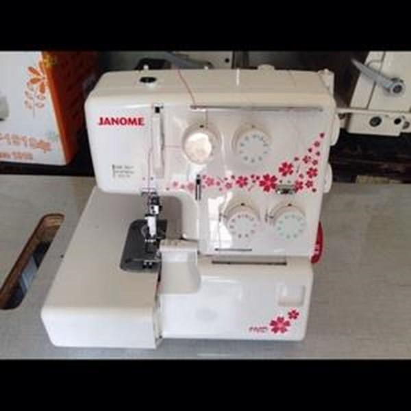 Mesin Jahit  Janome + Mesin Obras Janome 8002d Janome 990d Portable