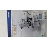 BROTHER HE-800B MESIN LUBANG KANCING ELECTRONIC DIRECT DRIVE  LOCKSITICH BUTTON HOLER