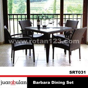 From Barbara Rattan Dining Table Dining Set Synthetic 0