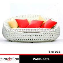 Synthetic Rattan Sofa Couch Valdo