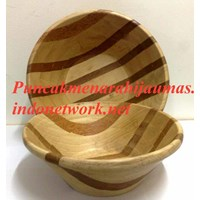 Rubber Wood Zebra Salad Bowl