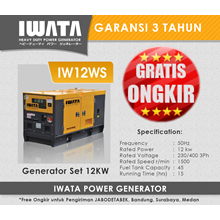 Genset Diesel IWATA 12Kva Silent