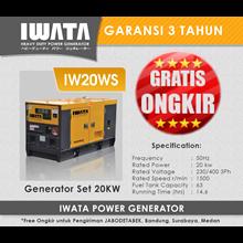Genset Diesel IWATA 20Kva Silent
