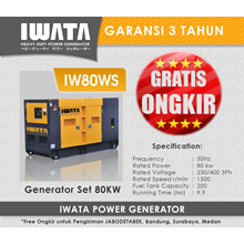 Genset Diesel IWATA 80Kva Silent