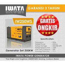 Genset Diesel IWATA 250Kva Silent