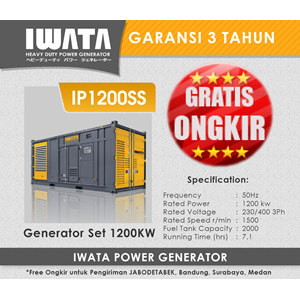 Sell Genset Diesel IWATA 1000Kva Silent from Indonesia by PT INDOTARA  PERSADA,Cheap Price
