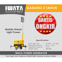 Jual Lighting Tower IWATA 5Kw Trailer Generator
