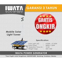 Lighting Tower IWATA 280W Mobile Solar