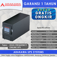UPS ARAKAWA ON-LINE SK30A 1KVA 1