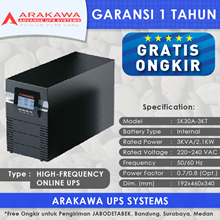 UPS ARAKAWA ON-LINE SK30A 3KVA