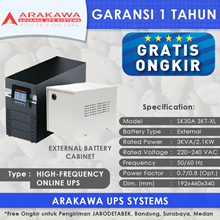 UPS ARAKAWA ON-LINE SK30A 3KVA-XL